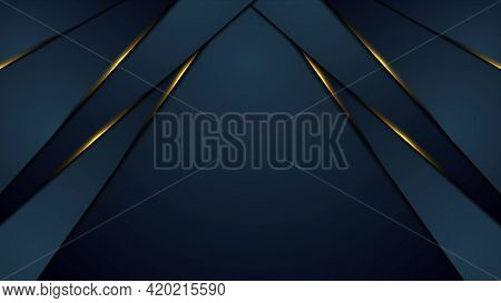 Dark blue abstract background with orange glowing light