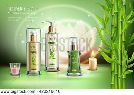 Cosmetics Advertising Skin Softening Beauty Balm Creme Moisturizer Sprays Dispensers Aromatic Candle