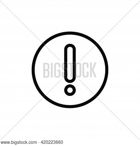 Exclamation Icon Isolated On White Background. Exclamation Icon In Trendy Design Style For Web Site