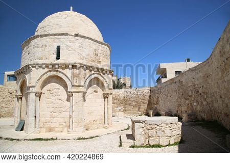Chapel Of The Ascension In Jerusalem. High Quality Photo