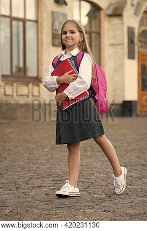School For Modern Academic Experience. Happy Kid Go To School. September 1. Back To School. Knowledg