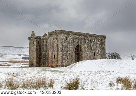 Hermitage Castle In The Scottish Borders In Winter