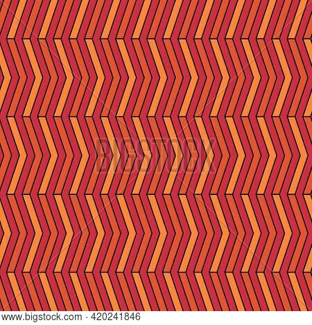 Seamless Pattern. Zigzag Lines Ornament. Jagged Stripes. Waves Ornate. Curves Image. Wavy Figures Ba
