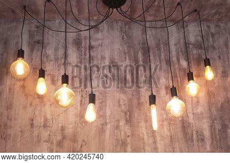 Lеd Filament Light Bulbs, Modern Light Design In The Interior