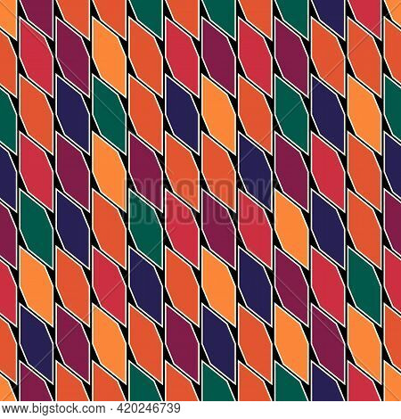 Seamless Pattern. Repeated Pickets Ornament. Oriental Traditional Ornamentation. Hexagon, Picket Sha
