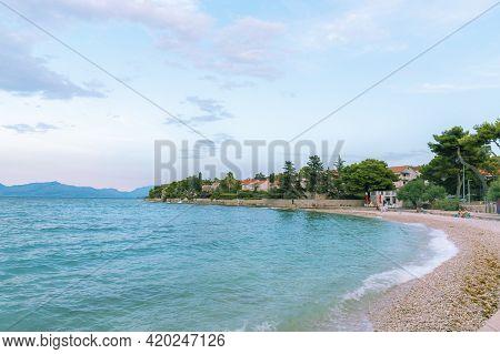 Beautiful View Of Sutivan Beach At Sunset. Island Of Brac, Croatia.