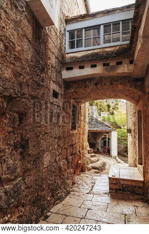 Pustinja Blaca Hermitage, Monastery On The Brac Island, Croatia.