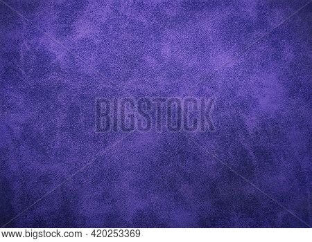 Dark Purple Eco Leather Color, Leather With Pattern Lines For Design Or Abstract Background. Dyed Le