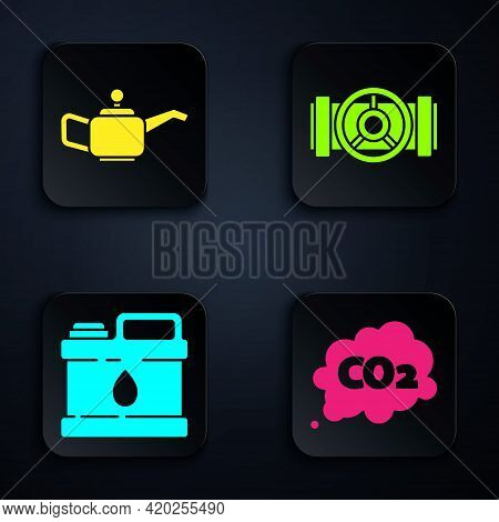 Set Co2 Emissions In Cloud, Canister For Motor Machine Oil, Canister For Motor Machine Oil And Indus