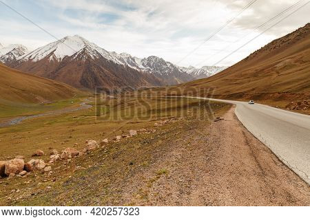 Highway M41, Bishkek Osh Highway, Talas District In Kyrgyzstan