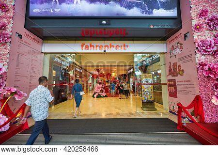 KUALA LUMPUR, MALAYSIA - JANUARY 18, 2020: entrance to Fahrenheit 88 shopping mall in Kuala Lumpur.