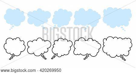 Cloud Speech Bubbles, Great Design For Any Purposes. Conversation Talk Message Balloon. Talk Bubble