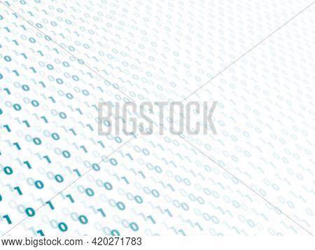 Digital Binary Binary Code Background. Matrix Background With Digits 1 And 0