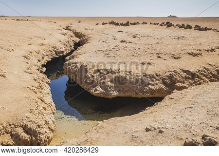 Cleft In The National Park Ras Mohammed