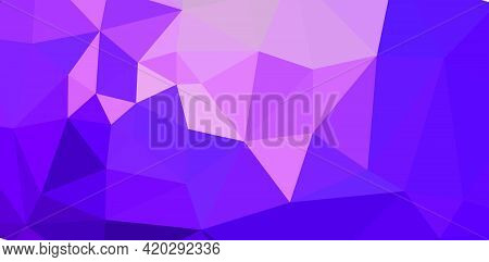 Colorful Purple Vivid Polygonal Triangular Background Pattern