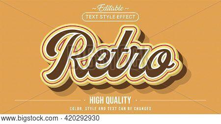 Editable Text Style Effect - Retro Text Style Theme. Graphic Design Element.