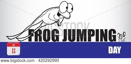 Card For Event May Day Frog Jumping Day