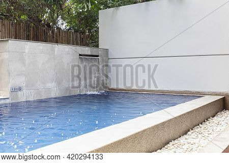 A Small Swimming Pool And A Small Garden In The Pool Villa.