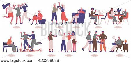 Extrovert And Introvert Characters. Sociable And Uncommunicative Psychological People Types Vector I