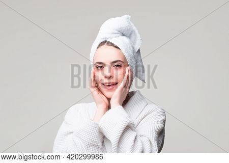 Close Up Of Caucasian Girl Take Off Silicone Under Eye Patches, Using Skincare Products From Dark Ci