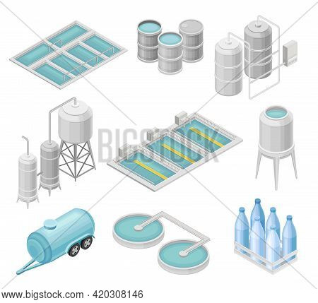 Water Purification Process With Filtration, Sedimentation And Distillation In Cylindrical Tanks And