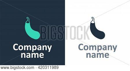Logotype Eggplant Icon Isolated Logotype Background. Logo Design Template Element. Vector