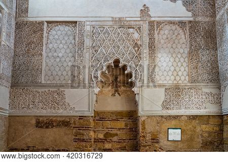 Cordoba, Spain - October 31, 2019: Inside The Synagogue Of Cordoba, Spain. Jewish Temple Founded In