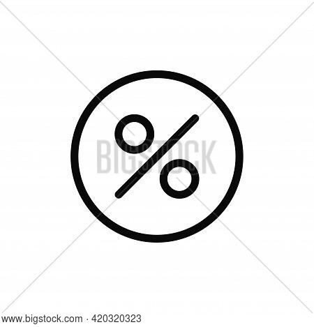 Percentage Icon Isolated On White Background. Percentage Icon In Trendy Design Style For Web Site An