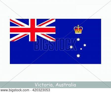 Victoria Australia Flag. Flag Of Vic, Au. Australian State Banner. Eps Vector Illustration File
