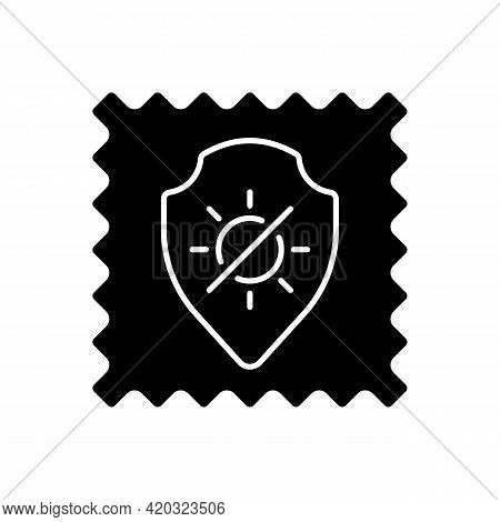 Uv Protection Fabric Feature Black Glyph Icon. Special Tissue Property. Sunlight Resistant Fiber. Ul