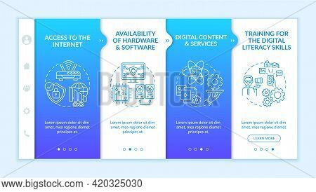 Digital Inclusion Components Onboarding Vector Template. Responsive Mobile Website With Icons. Web P