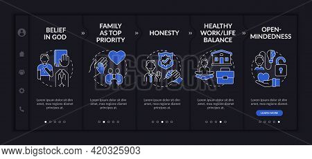 Personal Morality Onboarding Vector Template. Responsive Mobile Website With Icons. Web Page Walkthr