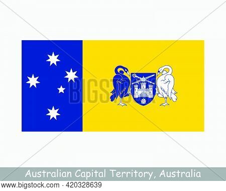 Australian Capital Territory Flag. Flag Of Act, Au. Territory Of Australia. Eps Vector Illustration