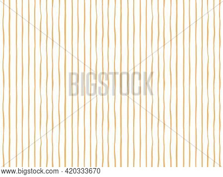 Thin Brush Stripes Geometric Seamless Vector Pattern. Asymmetric Thin Stripes Painted Vertically In