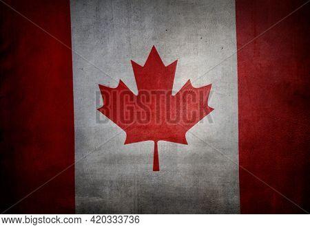Grunge textured effect Canadian flag