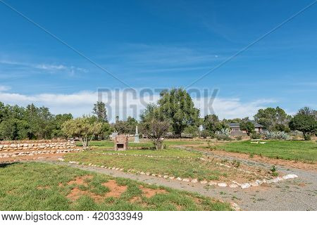 A Park, With Barbeque Places And A Monument, In Hanover In The Northern Cape Karoo