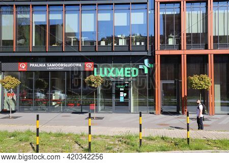 Gliwice, Poland - May 11, 2021: Luxmed Private Healthcare Clinic In Gliwice City In Poland. Lux Med