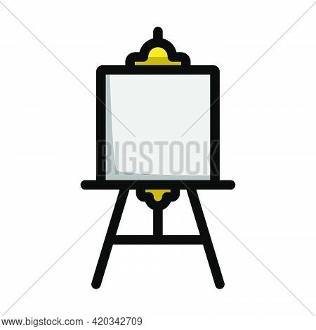 Easel Icon. Editable Bold Outline With Color Fill Design. Vector Illustration.
