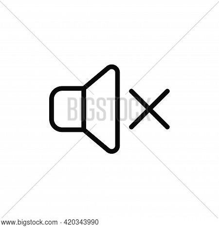 Mute Icon Isolated On White Background. Mute Icon In Trendy Design Style For Web Site And Mobile App