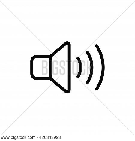Speaker Icon Isolated On White Background. Speaker Icon In Trendy Design Style For Web Site And Mobi