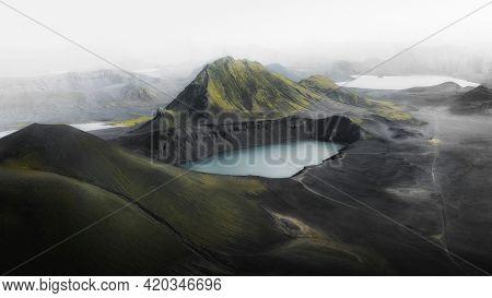 Lake in central highlands, Iceland
