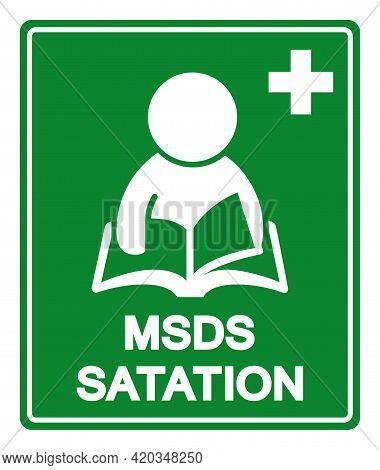 Msds Station Symbol Sign, Vector Illustration, Isolate On White Background Label .eps10