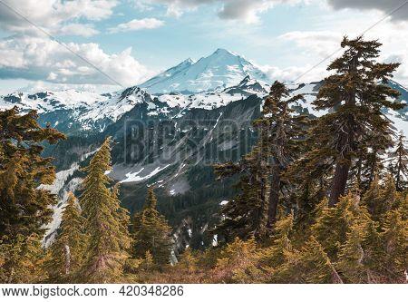Mt Baker recreational area in autumn season
