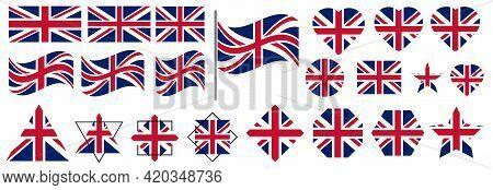 Flag Of United Kingdom. Vector. Flag Of The United Kingdom (union Jack)  Vector Image Of British Fla