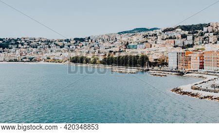 View of Naples coastline, Italy