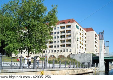 Berlin, Germany - May 31, 2020: Nikolai Quarter In The Center Of The German Capital Berlin Seen From