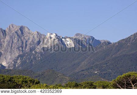 Apuane Alps View From Forte Dei Marmi