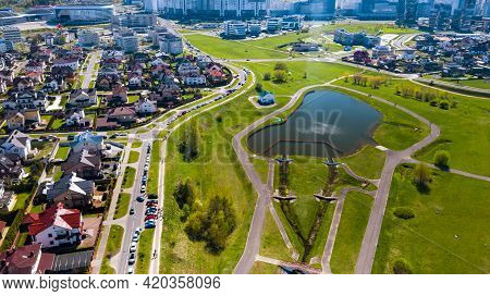 View From The Height Of The Private Sector In Drozdy In The City Of Minsk.belarus