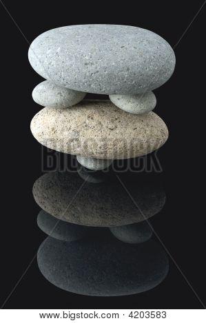 Balanced Stone Stack Pattern