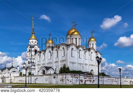 Dormition Cathedral In Vladimir Used To Be A Mother Church Of Medieval Russia In The 13th And 14th C